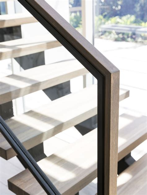 Stainless Steel Handrail Glass Balustrade stair modern design architecture steel stringers stainless steel framed glass