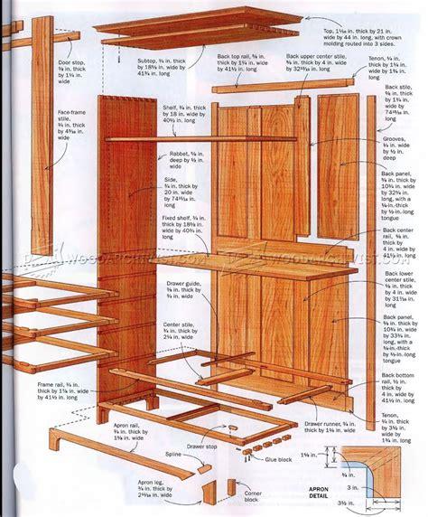 Shaker Furniture Plans by Shaker Cupboard Plans Woodarchivist