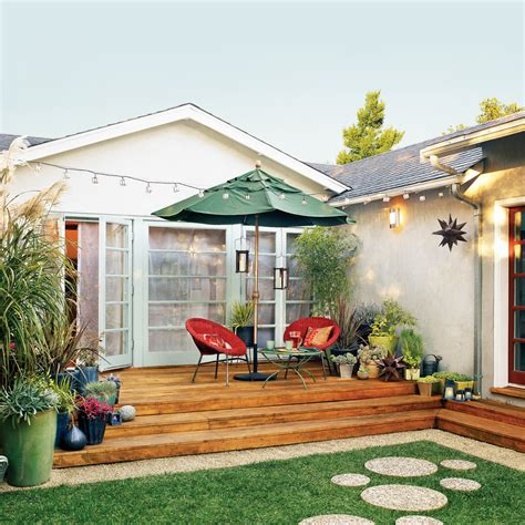 Great Small Backyard Ideas Patio Facelift Sunset