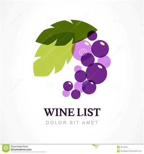 vector logo design template branch of grape with leaves