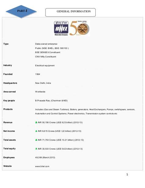 Mba Ib by Maaz Arif Mba Ib Bhel Internship Report