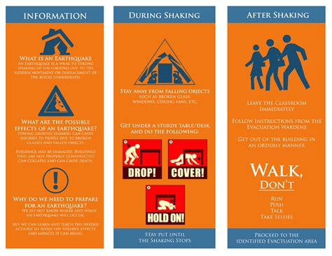 earthquake safety image gallery safety brochure