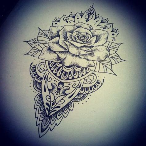 lovely mandala rose tattoo art pinterest rose