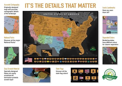 usa map poster scratch usa map poster earthabitats