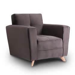fauteuil r 233 tro en velours gris canap 233