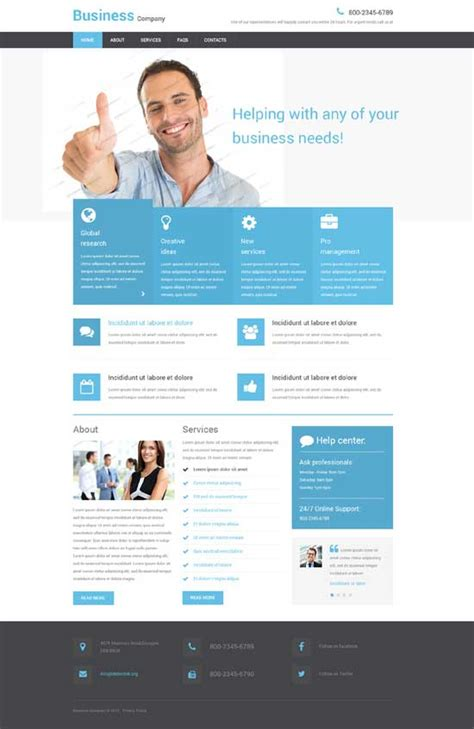 250 Free Responsive Html5 Css3 Website Templates Freshdesignweb It Company Website Template