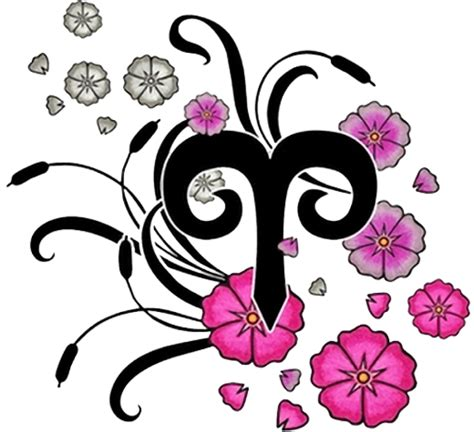 aries flower tattoo designs 50 zodiac sign with flowers tattoos