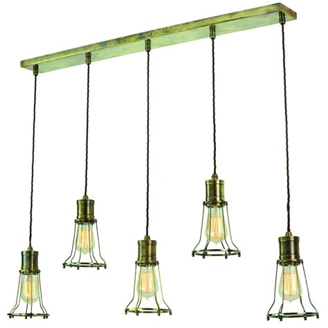 Industrial Style Island Lighting 5 Light Mutiple Pendant Breakfast Bar Light With Metal