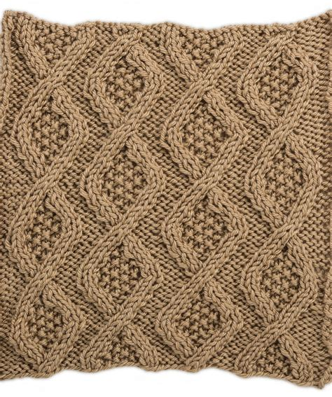 knit square patterns seed stitch diamonds square for knit your cables afghan