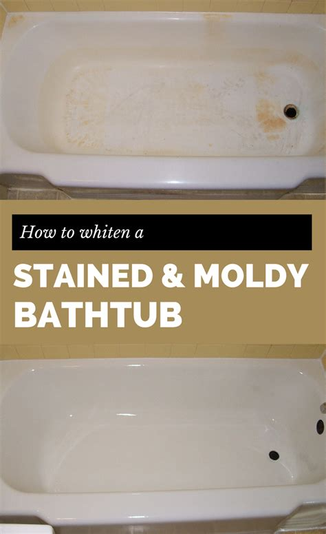 bathtub whitener how to whiten a stained and moldy bathtub cleaning
