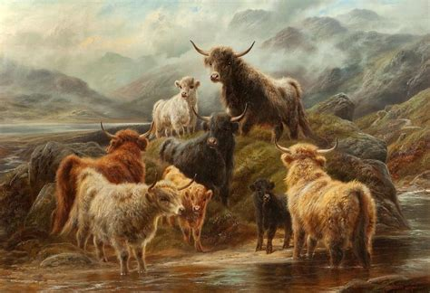 Cow Duvet Cover Highland Cattle 1894 Painting By Robert Watson