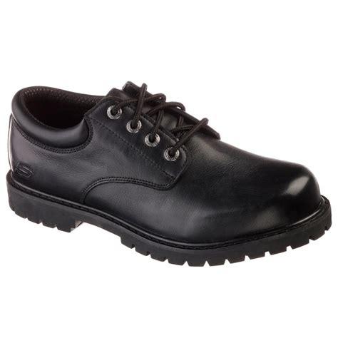 sketcher work shoes skechers cottonwood elks size 9 5 black leather work