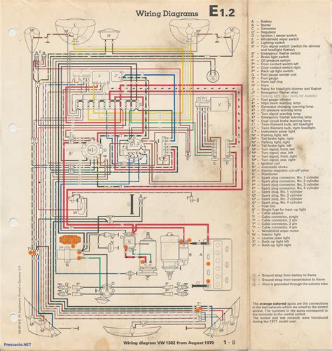 vw beetle wiring diagram 1971 wirning diagrams