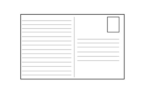 card template ks2 blank postcard template by 4877jessie teaching resources