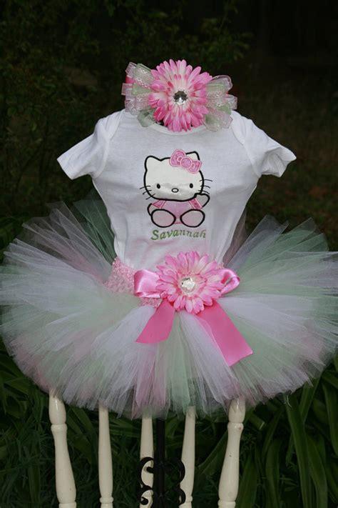 Gamis Set Tutu Hellokity items similar to birthday tutu hello 3 set tutu embroidered shirt