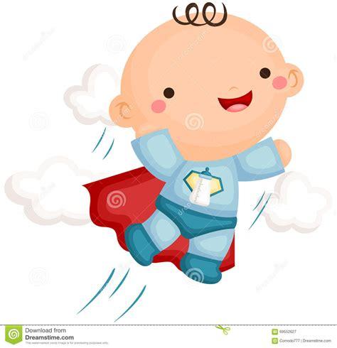 clipart neonato costume supereroe neonato illustrazione vettoriale
