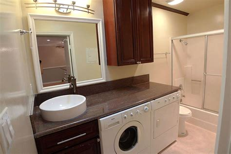 bathroom idea  washerdryer  counter space