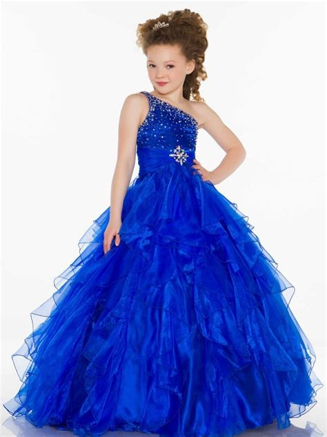 formal fashions pageant on pinterest 35 pins blue ball gown one shoulder girls pageant dress keira