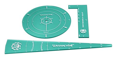 warmachine templates convergence template set privateer press
