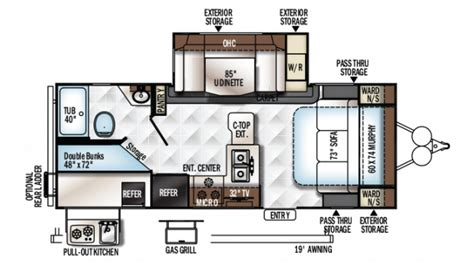rockwood floor plans forest river rockwood mini lite 2509s travel trailer