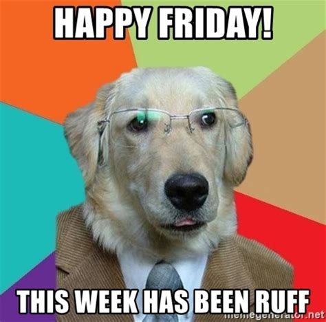 Friday Dog Meme - happy friday dog memes