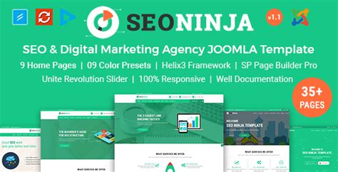 digital marketing agency template cms websites joomla templates from themeforest