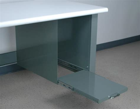Pull Out Printer Shelf by Stackbin Workbenches Pull Out Printer Stand