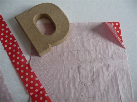How To Make Decoupage Letters - projects decoupage letters
