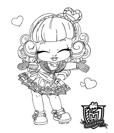 coloring pages monster high baby baby c a cupid by jadedragonne on deviantart
