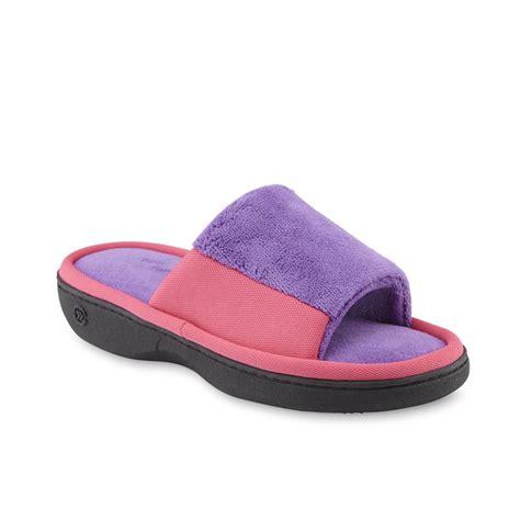 pink isotoner slippers isotoner s merey purple pink slide slipper