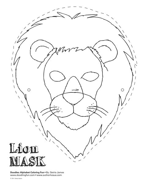 free coloring pages of lion king masks