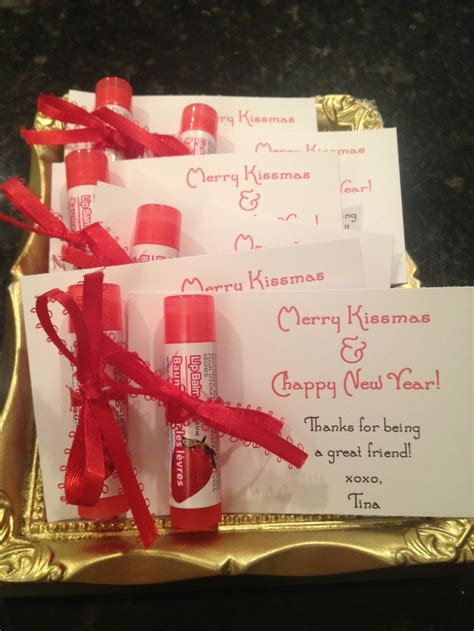 chappy new year small gift idea my version of the quot merry kissmas chappy