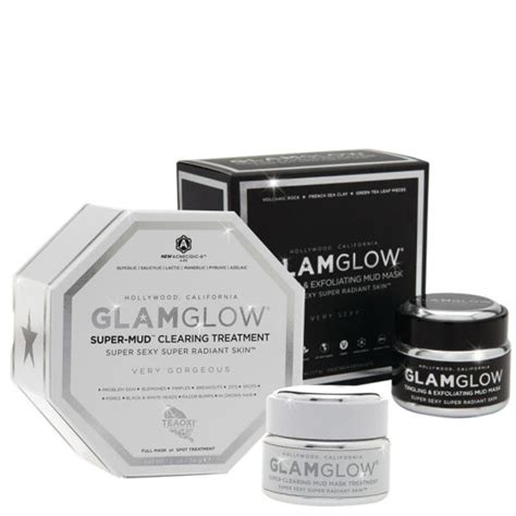 Masker Glamglow glamglow mud mask and treatment duo free shipping lookfantastic