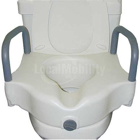 raised toilet seat with arms and legs raised toilet seat with arms local mobility