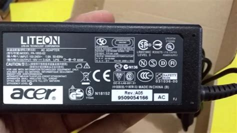 Charger Laptop Acer 19v3 42a adaptor charger laptop acer 19v 3 42a detail look