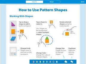 pattern shapes math learning center pattern shapes by the math learning center review for