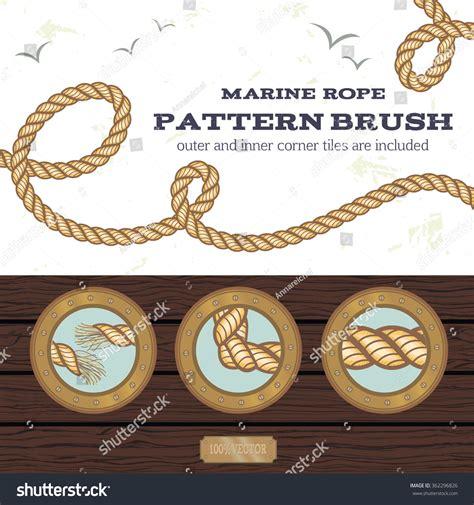rope pattern brush free download marine rope style vector pattern brush stock vector