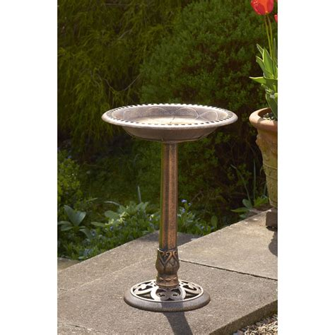 bird bath and free feeder bronze at wilko com