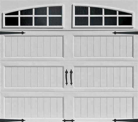 9 Ft Garage Door Ideal Door 174 4 9 Ft X 7 Ft White Arch Lite Panel Insulated Carriage House Garage Door