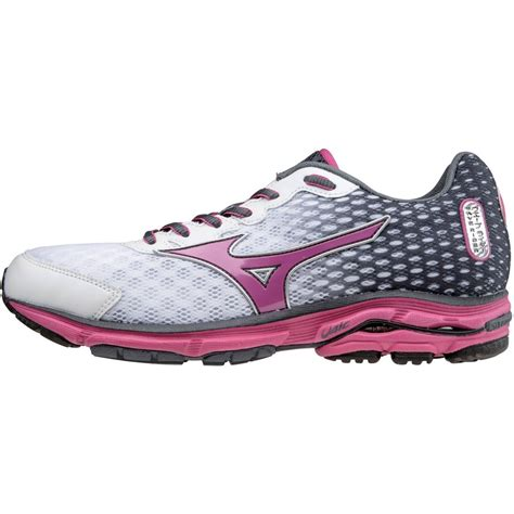mizuno wave rider womens running shoes mizuno wave rider 18 womens running shoes in white at