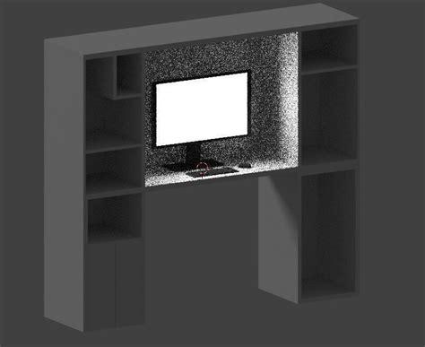 Computer Desk Wallpaper Computer Desk Background Prop 3d Model Obj Cgtrader