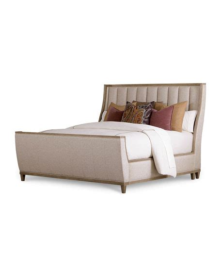 Tufted Sleigh Bed King East Abbott Channel Tufted King Sleigh Bed And Matching Items