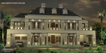Colonial Luxury House Plans by 5500 Sq Ft 5 Bedroom Colonial Style Luxury Home Design