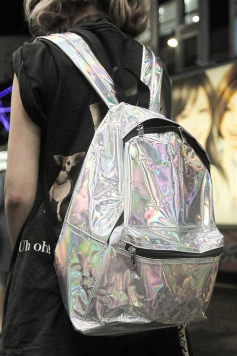Tas Jansport Mini Flower holographic backpack hologram bags and