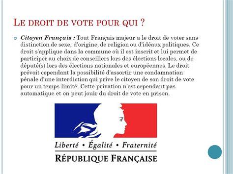 le droit la 2717857087 le droit de vote des etrangers ppt t 233 l 233 charger