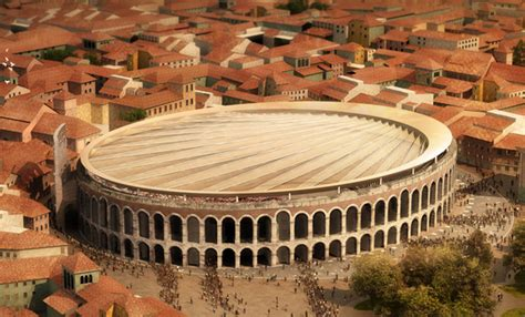 ancient structures open roof membrane roof to protect hitheater fabric