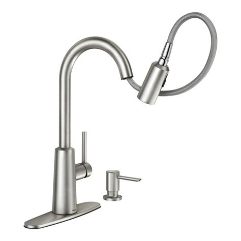 moen automatic kitchen faucet faucet 87066srs in spot resist stainless by moen