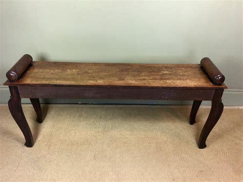 antique mahogany bench 19th c mahogany hall bench antiques atlas
