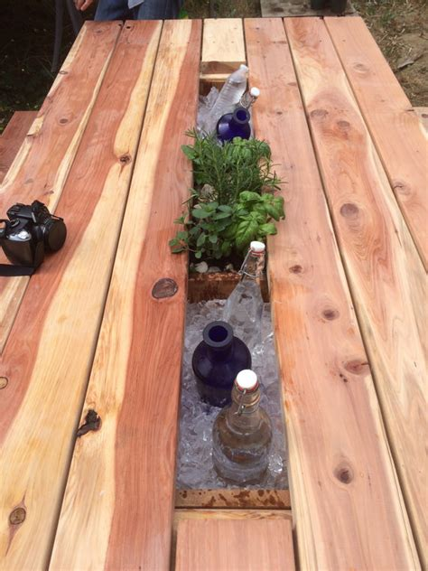 layoutinflater table row redwood planter cooler picnic table