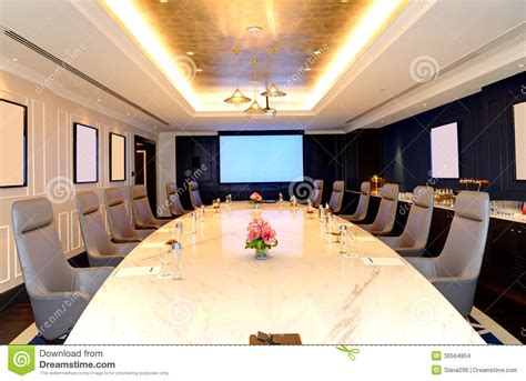 Chandelier Restaurant Dubai The Meeting Room Interior At Luxury Hotel Stock Images
